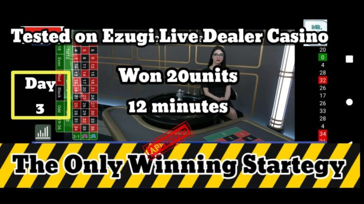 Day – 3 From 1350 to 1550   Dozen & Column Stategy   #OnlineCasino #LiveDealers #Roulette #Ezugi