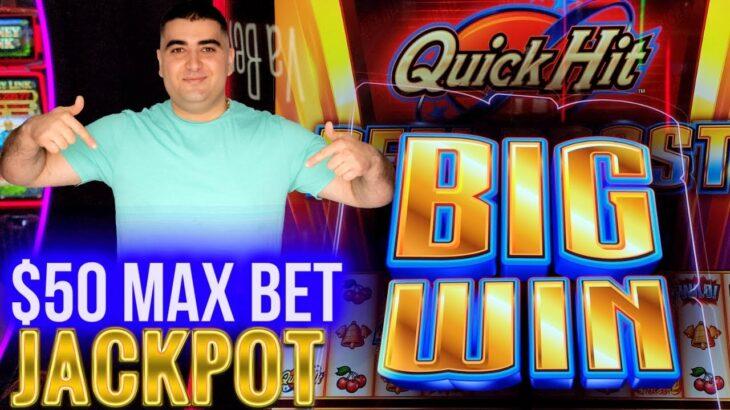 $50 Max Bet HANDPAY JACKPOT On Quick Hit REEL BOOST Slot   Las Vegas Casino Jackpot   SE-2   EP-30