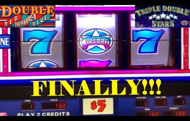 CLASSIC OLD SCHOOL HIGH LIMIT CASINO SLOTS: TRIPLE DOUBLE STARS + DOUBLE RED WHITE & BLUE SLOT PLAY!