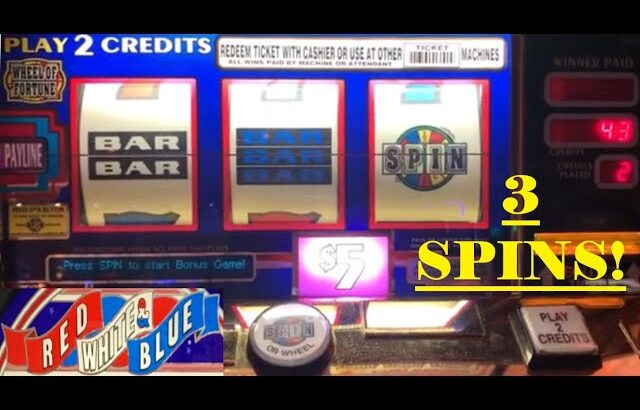 CLASSIC OLD SCHOOL HIGH LIMIT CASINO SLOTS: WHEEL OF FORTUNE SLOT PLAY! RED WHITE & BLUE!