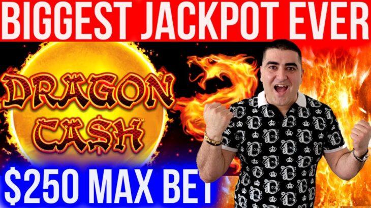 Biggest Jackpot On YouTube History For DRAGON CASH Slot | Winning Mega Bucks At Casino