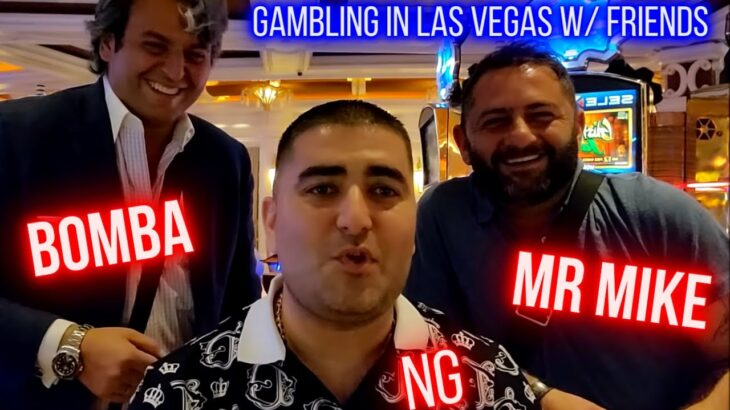 Gambling In Vegas With MR MIKE SLOTS & BOMBA SLOTS | Live Slot Play At Casino W/ Friends