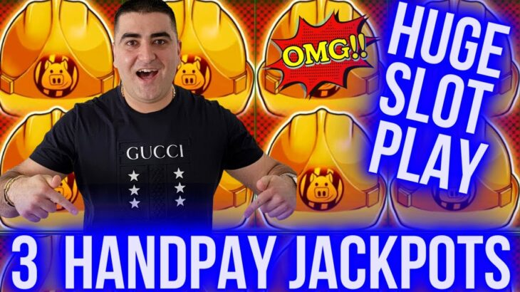 Up To $125 Bets & 3 HANDPAY JACKPOTS On High Limit Slots | Winning Jackpots At Casino | SE-3 | EP-11